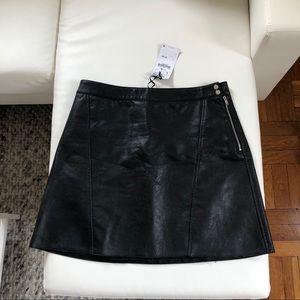 NEW Black Leather Skirt from Zara